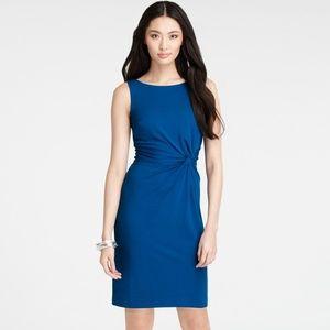 Ann Taylor Blue Twist Knot Knit Cocktail Dress 12